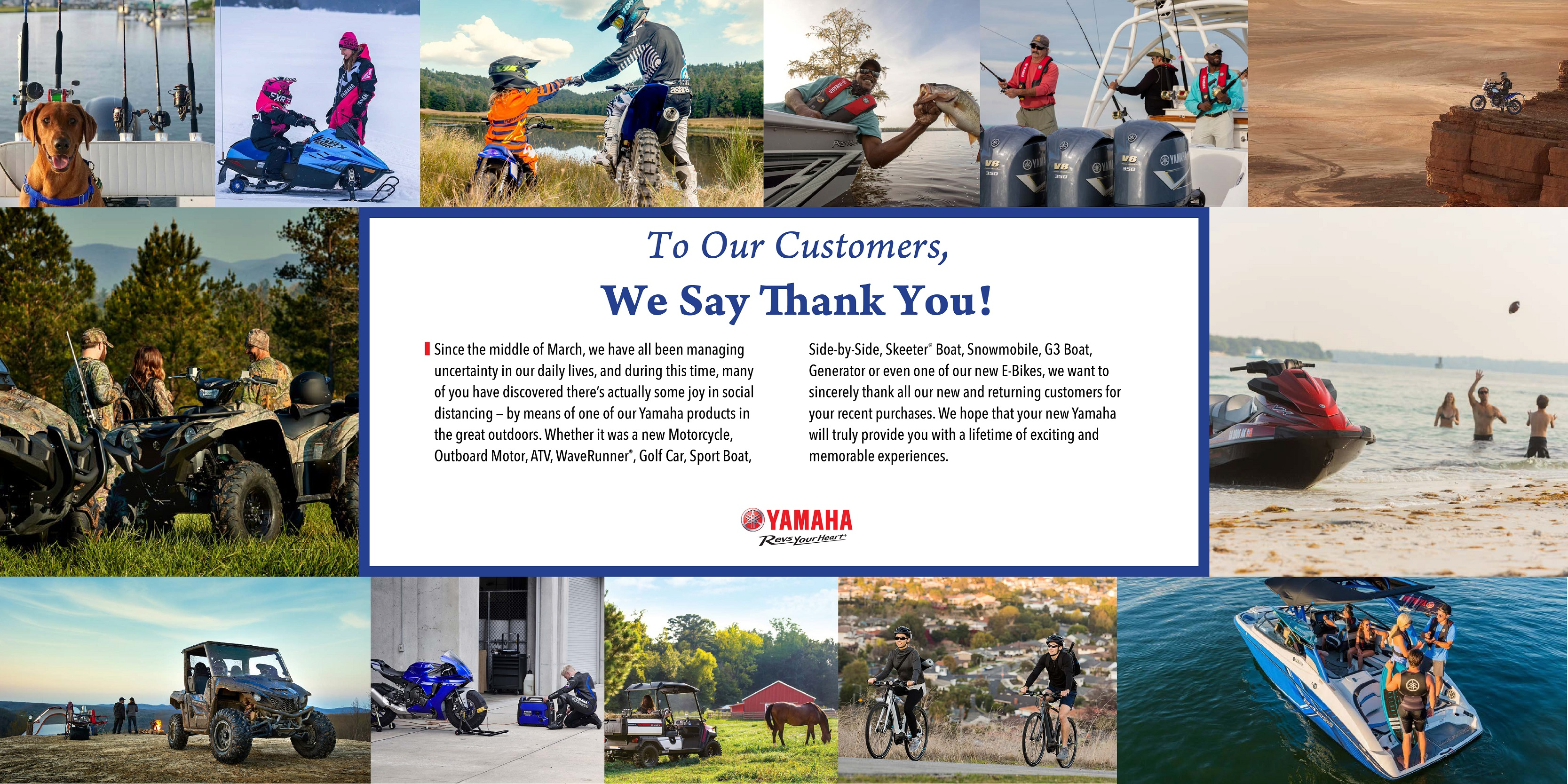 Yamaha says Thank You!