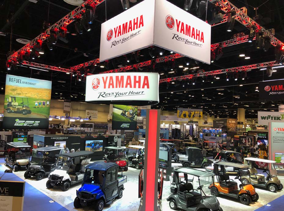 YAMAHA GOLF-CAR COMPANY DEBUTS POWERTECH AC™ IRS & AGM BATTERY OPTION AT 2020 PGA<sup>®</sup> MERCHANDISE SHOW