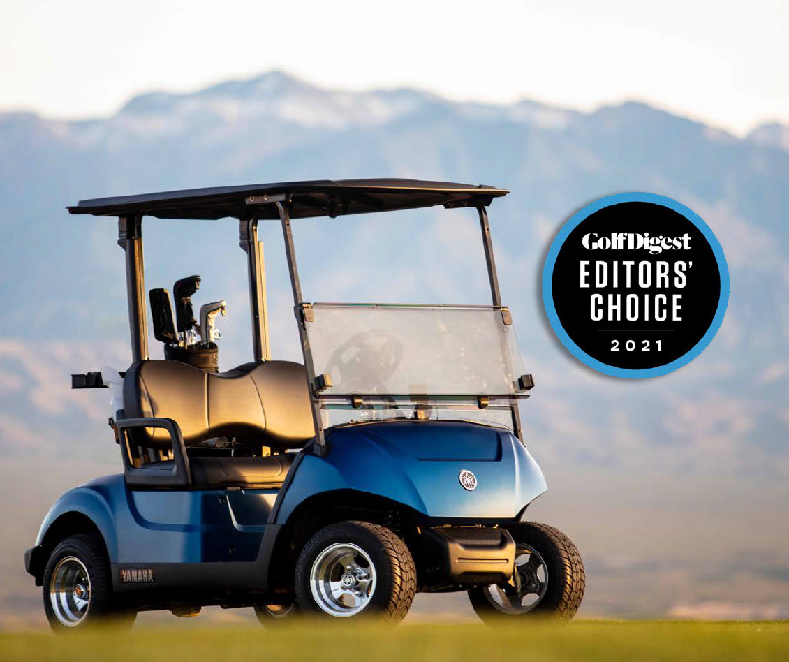 Yamaha Golf-Car Company's Drive2 QuieTech<sup>®</sup> Awarded 2021 Golf Digest<sup>®</sup> Editors' Choice Award for Best Gas Golf Car