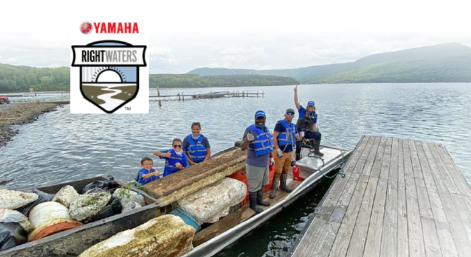 Yamaha Pro Ish Monroe Joins Forces with Keep the Tennessee River Beautiful, Youth Volunteers and Yamaha Rightwaters™ to Clean Up Nickajack Lake
