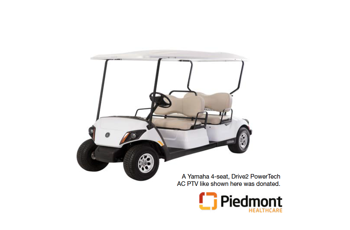 Yamaha Motor Manufacturing and Yamaha Golf Car Company Donate New Golf Car to Help Patients of Piedmont Newnan Hospital