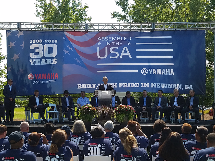 Yamaha Celebrates 30 Years of U.S. Manufacturing